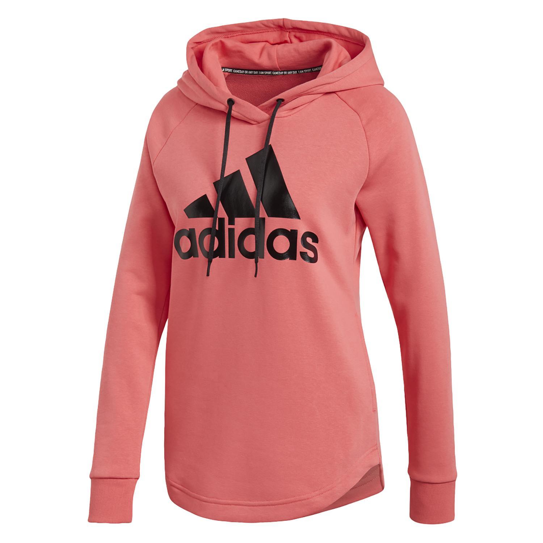 Shop adidas Long Sleeves W E LIN OH Hoodie PinkWhite online