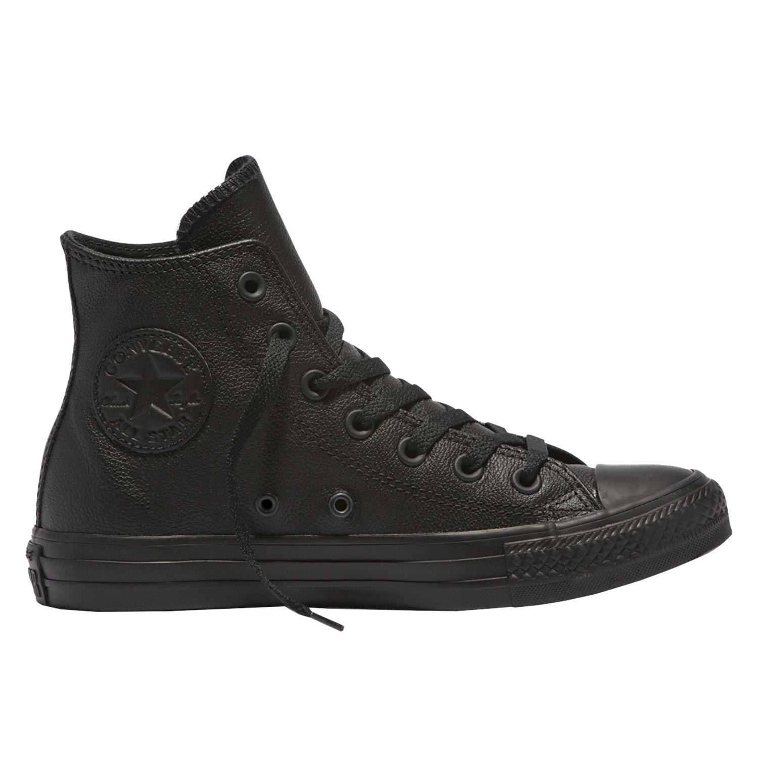 all star leather high top