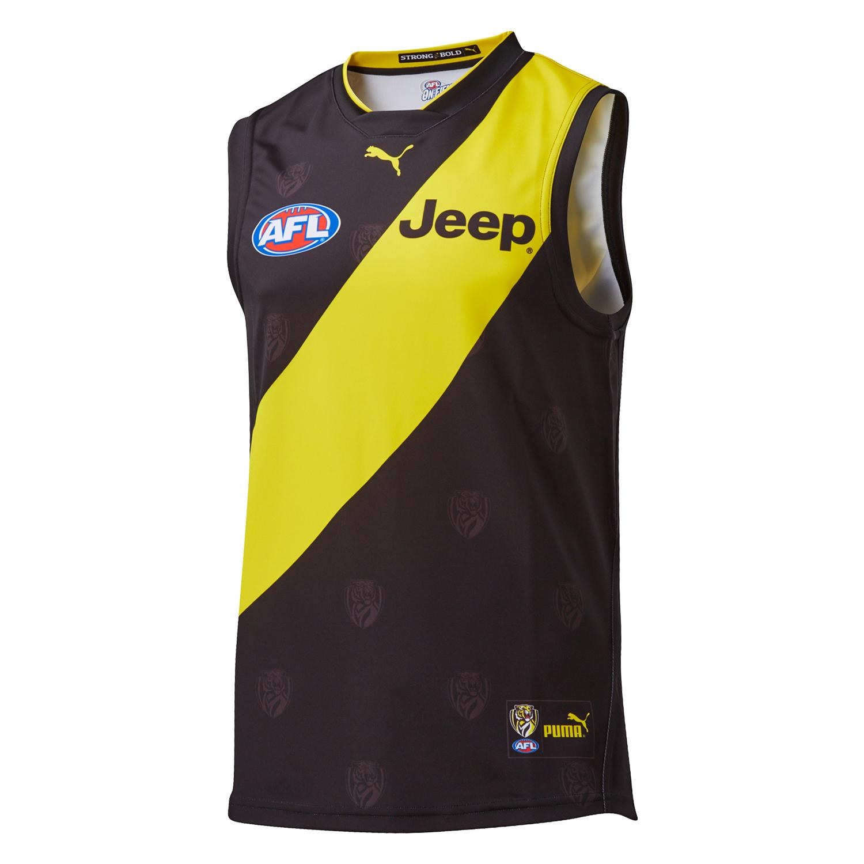hot sale online a8a05 a287f Puma 2019 Richmond Tigers Home Replica Men's AFL Jersey