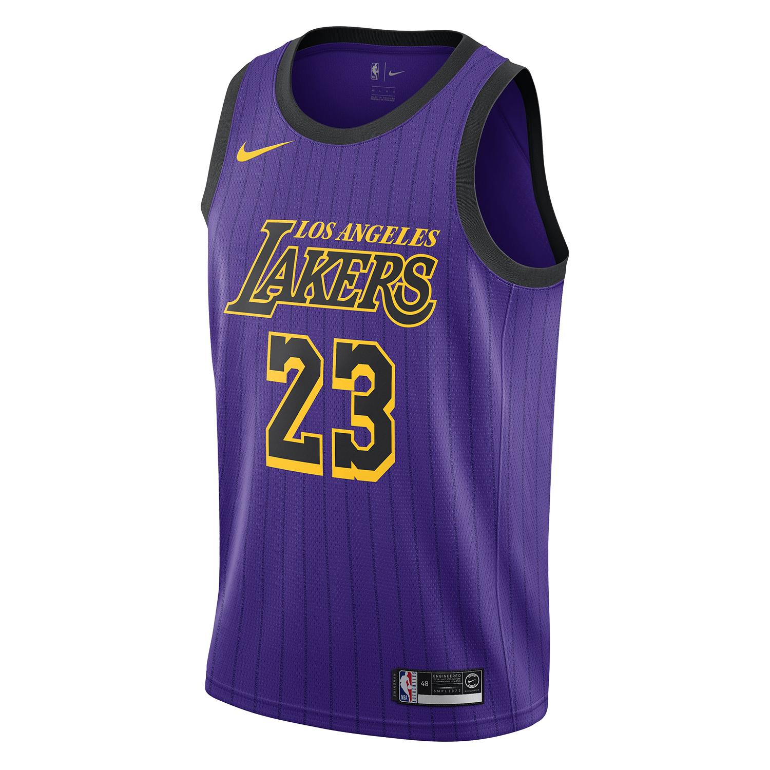 best service 33e89 9bc75 Nike LeBron James (Los Angeles Lakers) City Edition Swingman Men's NBA  Jersey