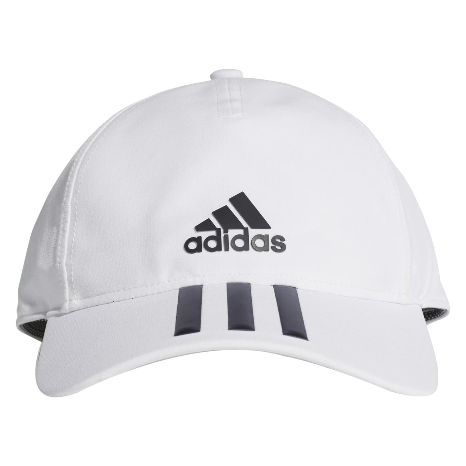 adidas C40 3-Stripes Climalite Cap in White - Intersport Australia 08a54800f07