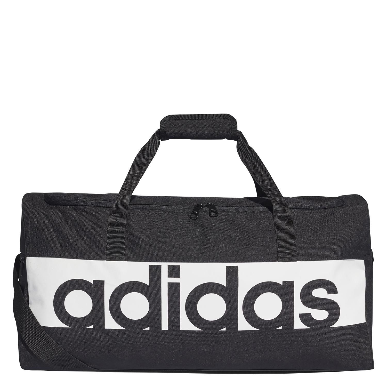 low priced 5224e ceeab adidas Linear Performance Medium Duffel Bag in Black - Intersport Australia